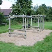 Play equipment behind Village Hall